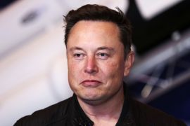 Elon Musk's net worth was $188.5bn at 10:15am in New York (15:15 GMT), $1.5bn more than that of Bezos [File: Bloomberg]