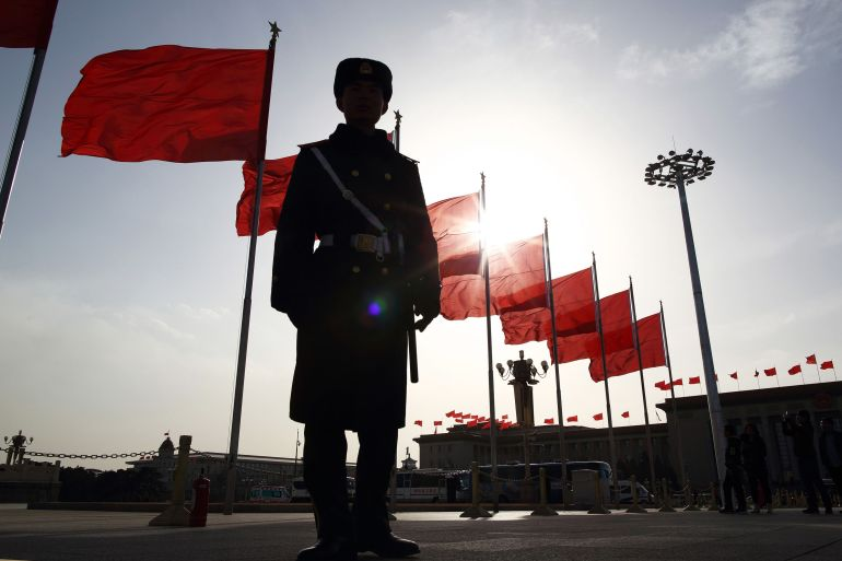 A new strategy paper by the US NSA Robert O'Brien lays out a vision for the Asia-Pacific region in which the US works with partners to resist Chinese attempts to undermine sovereignty through coercion [File: Bloomberg]