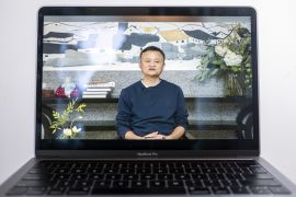 Jack Ma, co-founder of Chinese e-commerce giant Alibaba appeared in this live-streamed address to teachers at an annual event he hosts to recognise rural educators. Ma has resurfaced after months out of public view fuelling intense speculation about the plight of the billionaire who is grappling with mounting scrutiny over his internet empire [Justin Chin/Bloomberg]