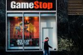 Euphoria born in day-trader chat rooms has turned GameStop into the biggest-story stock of the retail era, its improbable surge an emblem of the newfound power of individual investors [File: Gabriela Bhaskar/Bloomberg]