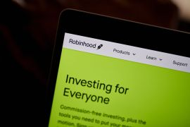 A lawsuit filed in California Monday alleges Robinhood has an obligation to know its customers and ensure their trading strategies are appropriate, but instead the broker preyed on inexperienced investors [File: Gabby Jones/Bloomberg]