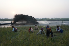 In Pictures: Illegal sand mining threatens Bangladesh farmland