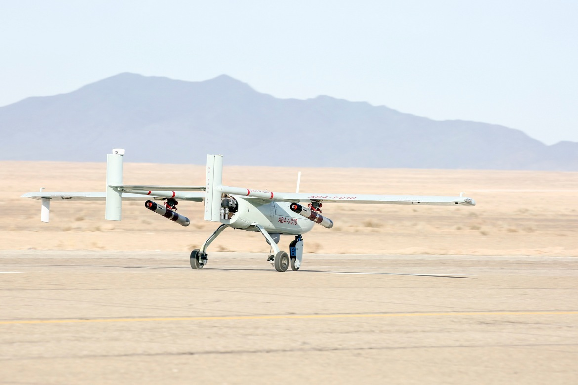 It is the first large-scale drone-only drill that the country is known to have conducted. [Courtesy of the Iranian government]
