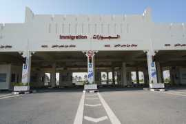 Abu Samra border crossing to Saudi Arabia, in Qatar [Sorin Furcoi/Al Jazeera]