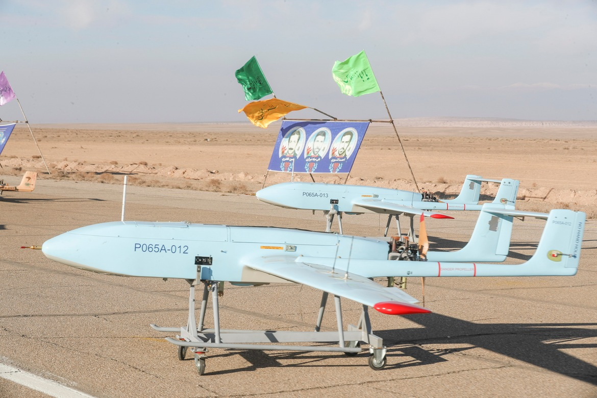 One of hundreds of drones made by Iran is displayed as the country continues to be sanctioned by the US [Courtesy of the Iranian government]
