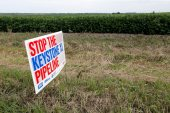 First proposed in 2008, the Keystone XL pipeline has become emblematic of the tensions between economic development and curbing fossil fuel emissions [File: Nati Harnik/AP]
