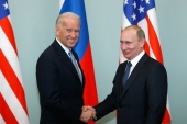 US President Joe Biden has spoken to Russian President Vladimir Putin for the first time since taking office [File: Alexander Zemlianichenko/The Associated Press]