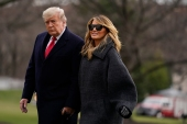 President Donald Trump and First Lady Melania Trump will leave the White House on Wednesday [File: Evan Vucci/The Associated Press]