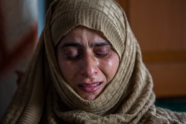 Rafiqa Banoo, mother of 16-year-old Ather Mushtaq [Dar Yasin/AP Photo]