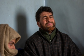 Mushtaq Ahmed Wani, father of 16-year-old Ather Mushtaq, at their home in Bellow village, Pulwama, Indian-administered Kashmir [File: Dar Yasin/AP]