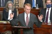 Senator James Lankford speaks as the Senate reconvenes after protesters stormed the US Capitol on Wednesday, January 6, 2021 [File: Senate Television via AP Photo]