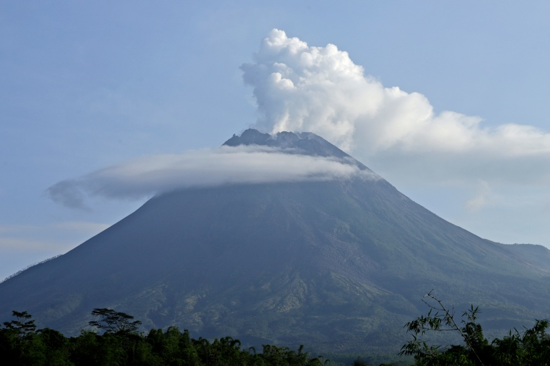 The geological authority had raised the alert level of Mount Merapi to the second-highest level in November after sensors picked up increasing activity [Taufiq Rozzaq/AP Photo]