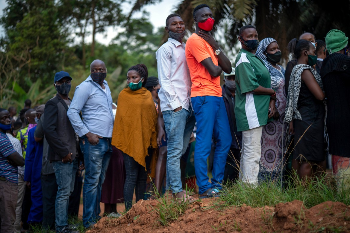 'I am here to change the leadership of this nation because for years they've been telling me they will secure my future. They have not done that,' said voter Joseph Nsuduga, 30. [Jerome Delay/AP Photo]