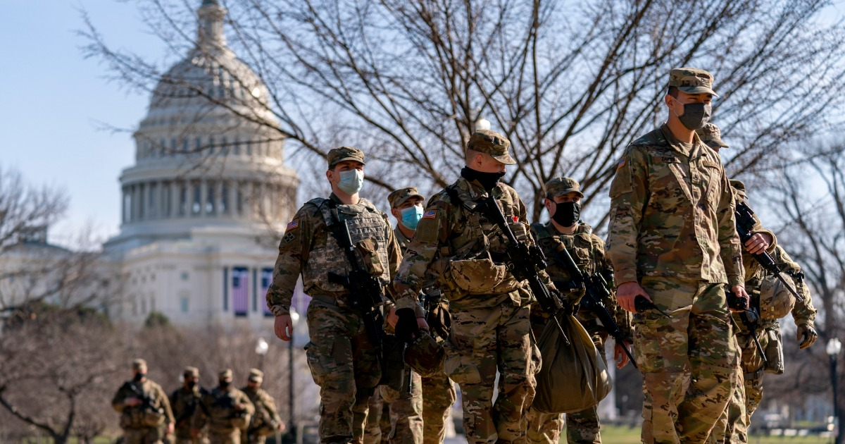 FBI vets troops amid fears of insider attack during inauguration | Military News
