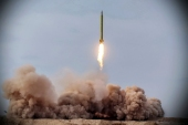 The drill saw anti-warship ballistic missiles launched in the Indian Ocean [Iranian Revolutionary Guard/Sepahnews via AP]