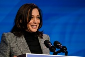 Kamala Harris has resigned her US Senate seat from California and will become the first female and first Black vice president in US history on Wednesday [File:Matt Slocum/ AP Photo]