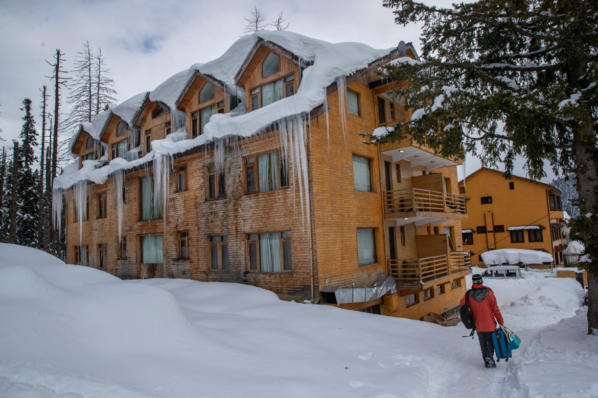 Gulmarg was developed as a resort by the British nearly a century ago, and the region's eternal appeal with foreign visitors has made it a year-round destination. [Dar Yasin/AP Photo]