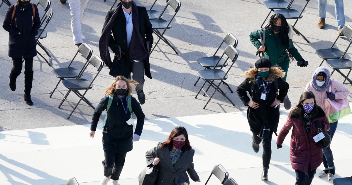 Inauguration rehearsal evacuated after fire near Capitol