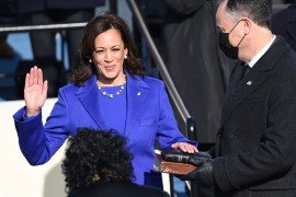 United States Vice President Kamala Harris, the daughter of immigrants from Jamaica and India, shattered a major glass ceiling and then got right to work [File: Saul Loeb/Pool Photo via AP]