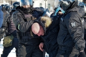 Security forces in Russia launched measures to curb Saturday's planned nationwide protests [Igor Volkov/AP Photo]