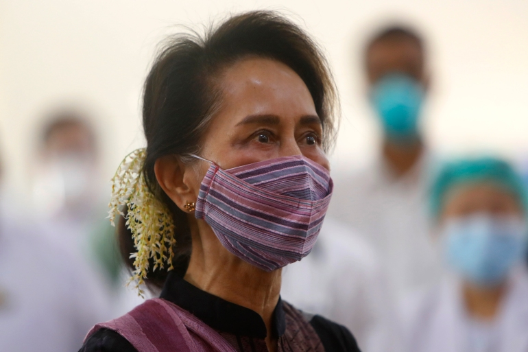 Myanmar leader Aung San Suu Kyi and other senior government officials were detained by the government in an early morning series of raids on Monday, the day the new parliament was supposed to sit [File: Aung Shine Oo/Reuters]