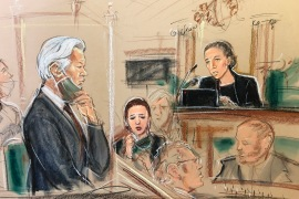 In court, Assange's lawyers argued that the case was political and an assault on journalism and freedom of speech [Priscilla Coleman/MB Media]
