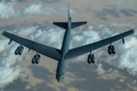 The US flew a B-52 'presence patrol' over the Middle East on Sunday [Courtesy: US Central Command]