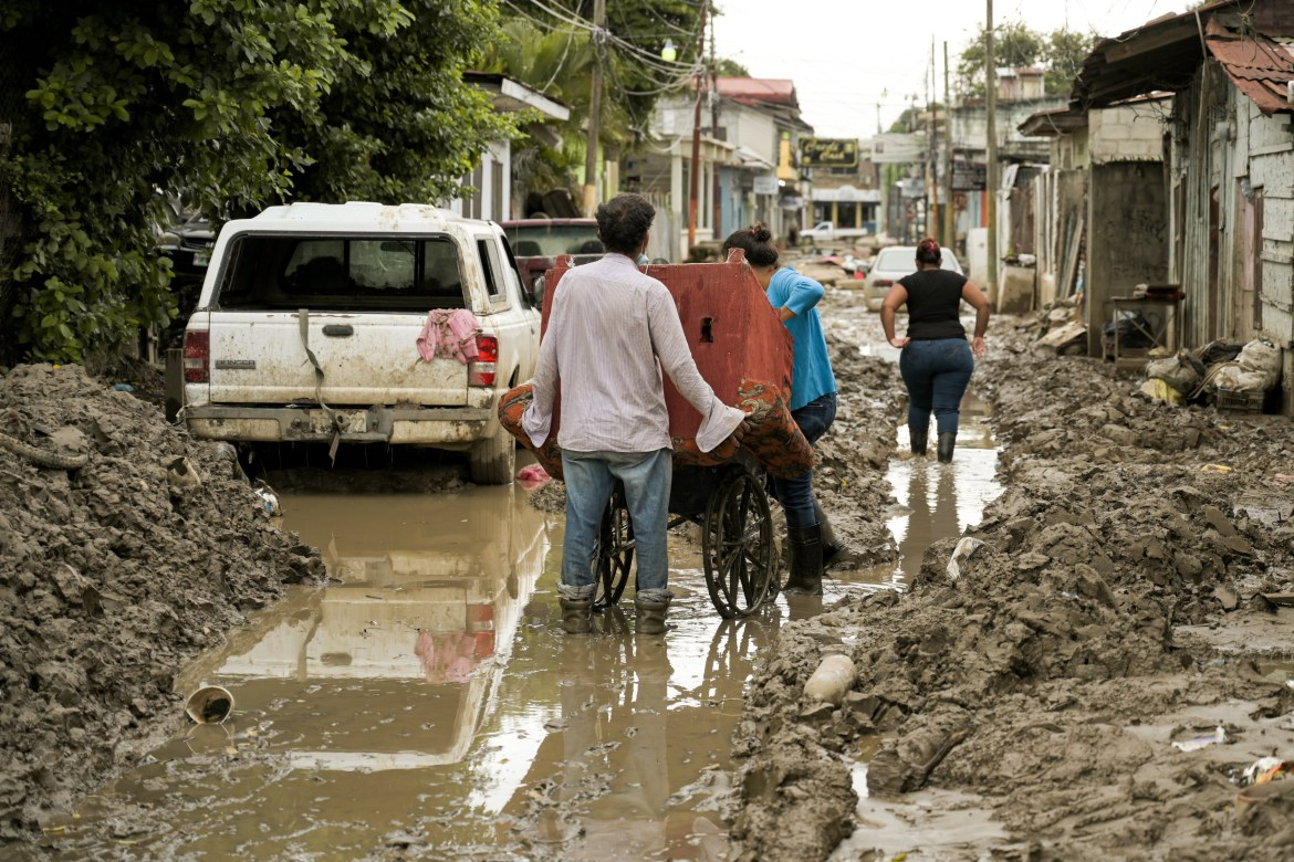 Many of the streets in the city of La Lima were still not cleared more than a month after the tropical storms struck Honduras. [Christian Jepsen/NRC]