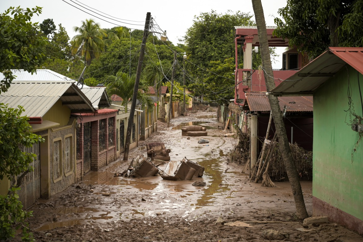 Many streets in La Lima, Honduras, still bear witness to the disaster brought on by the Eta and Iota storms that struck the region in November, 2020 [Christian Jepsen/NRC]