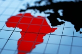 African continent highlighted in red. (Getty Images)