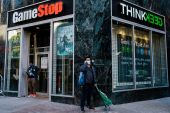 GameStop, whose stock is about $60 above the average forecast of equity handicappers tracked by Bloomberg, has become the latest show of force by newbie day traders in a market that seems more like their plaything each day [File: Bloomberg]