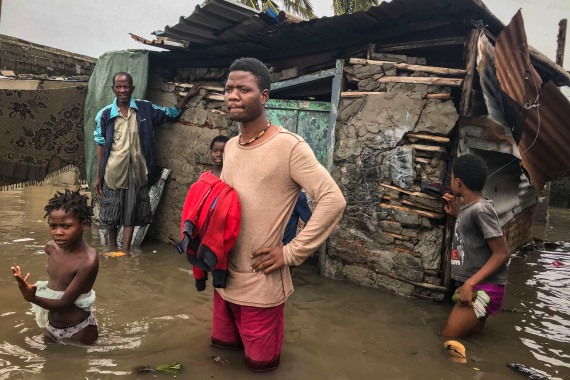 The severe winds and heavy rains have completely destroyed 1,069 houses, according to Mozambique's National Institute for Disaster Risk Management and Reduction (INGD). [Andre Catueira/EPA]