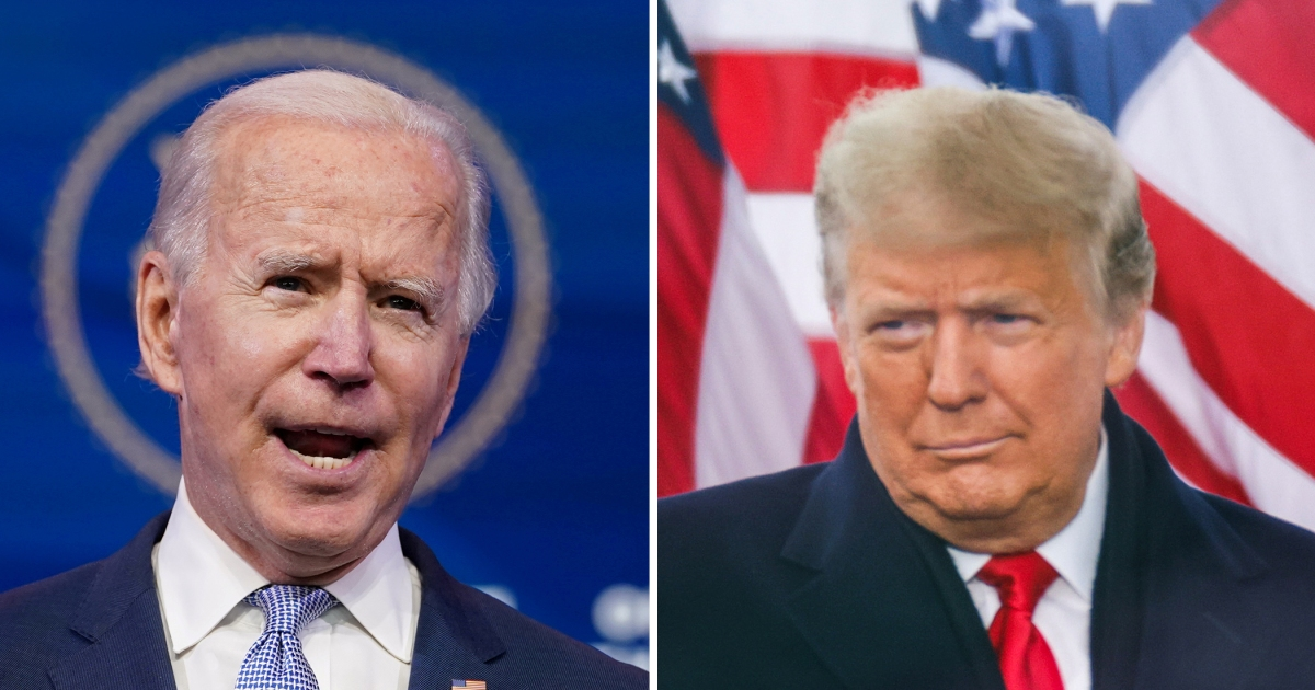 Graphics: Biden and Trump inaugurations compared
