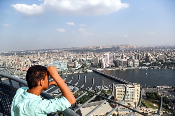 At 120 metres high and spanning 20,000 square metres, the Cairo Eye promises visitors a panoramic view of the city from what will be Africa's largest observation wheel [File: Mohamed el-Shahed/AFP]