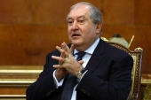 Armenian President Armen Sarkissian said the country's current political crisis 'cannot be resolved through frequent personnel changes' [File: Russian Foreign Ministry Handout via AFP]