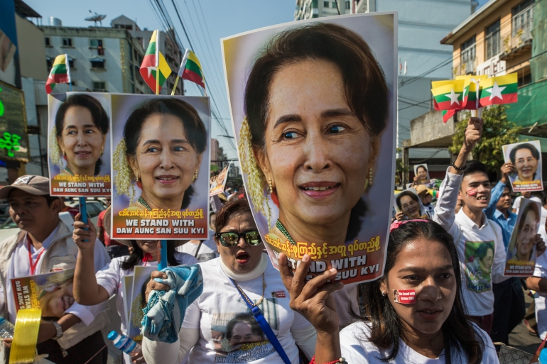 """Myanmar military says carried out the detentions in response to """"election fraud"""" in last November's general election [File: Sai Aung Main/ AFP]"""