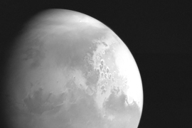 This handout photograph released on February 5, 2021 by the China National Space Administration shows an image of Mars captured by China's Mars probe Tianwen-1. [File Photo: China National Space Administration/AFP]