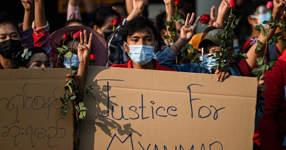 Tens of thousands protest Myanmar coup, internet blackout eased