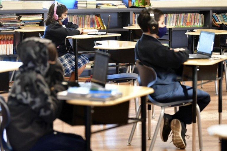 Officials say there is strong evidence now that schools can reopen, especially at lower grade levels [File: Frederic J Brown/AFP]