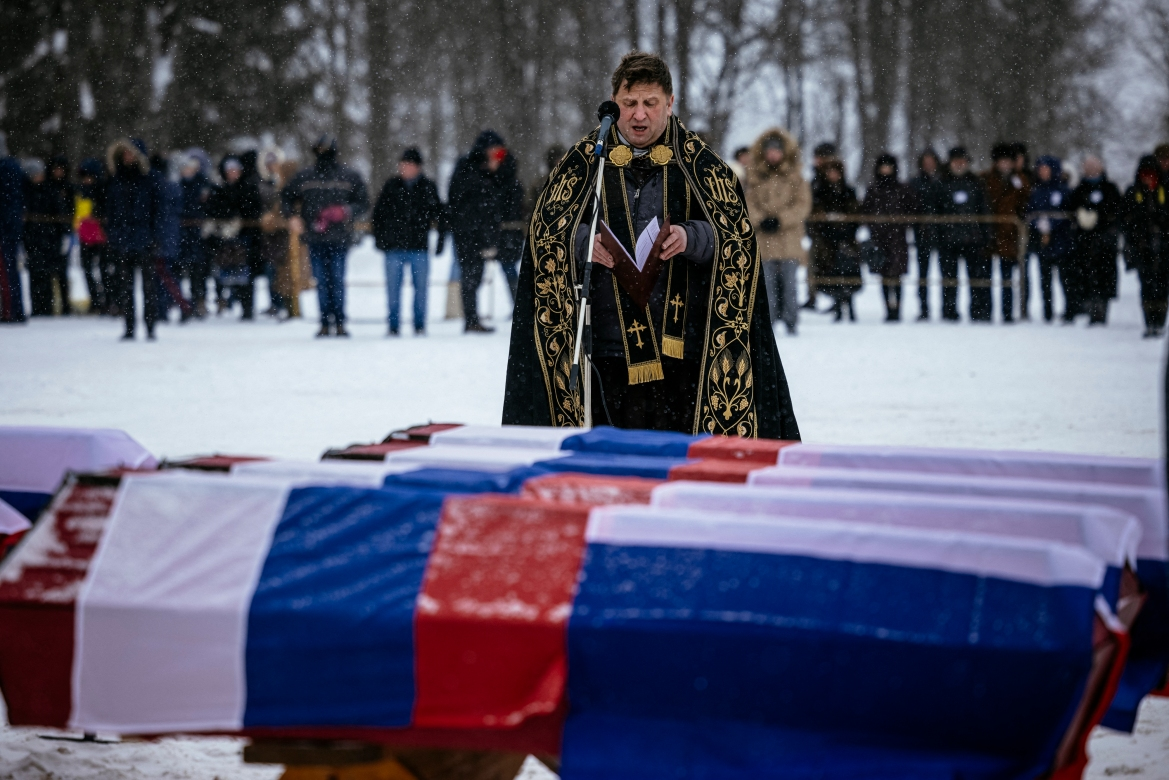 Research by the Russian Academy of Sciences later showed the remains were of victims of Napoleon's campaign, said anthropologist Tatyana Shvedchikova. [Dimitar Dilkoff/AFP]