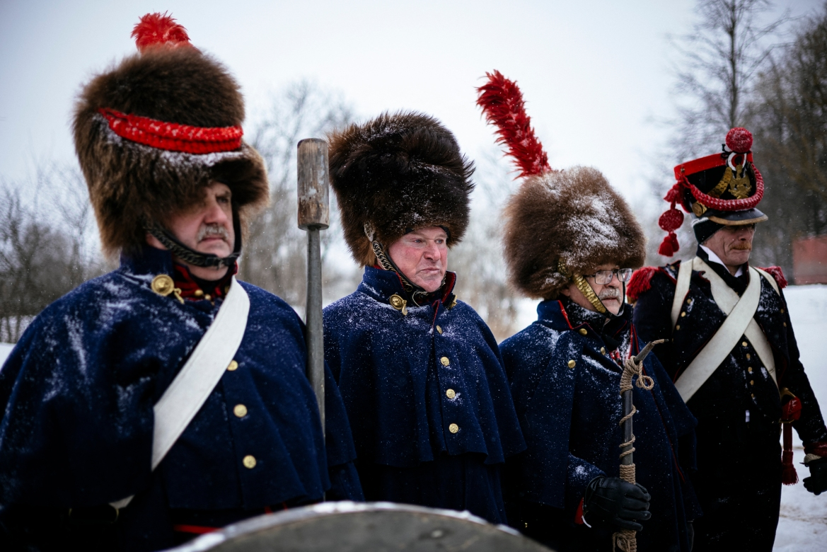 They are thought to have fallen during the Battle of Vyazma on November 3, 1812, at the beginning of the French army's retreat from Moscow and before the horrific crossing of the Berezina River. [Dimitar Dilkoff/AFP]