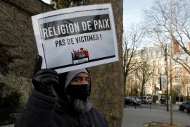 About 200 people demonstrated in Paris on Sunday against the bill [File: Geoffroy Van Der Hasselt/AFP]