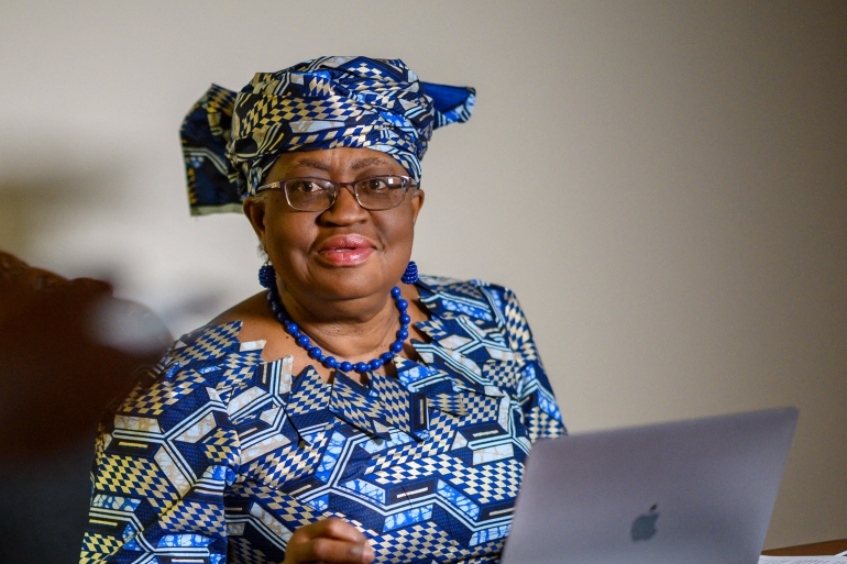 Earlier this month, the administration of United States President Joe Biden reversed former President Donald Trump's opposition and expressed 'strong support' for Okonjo-Iweala heading the World Trade Organization, saying she 'brings a wealth of knowledge in economics and international diplomacy' [Eric Baradat/AFP]