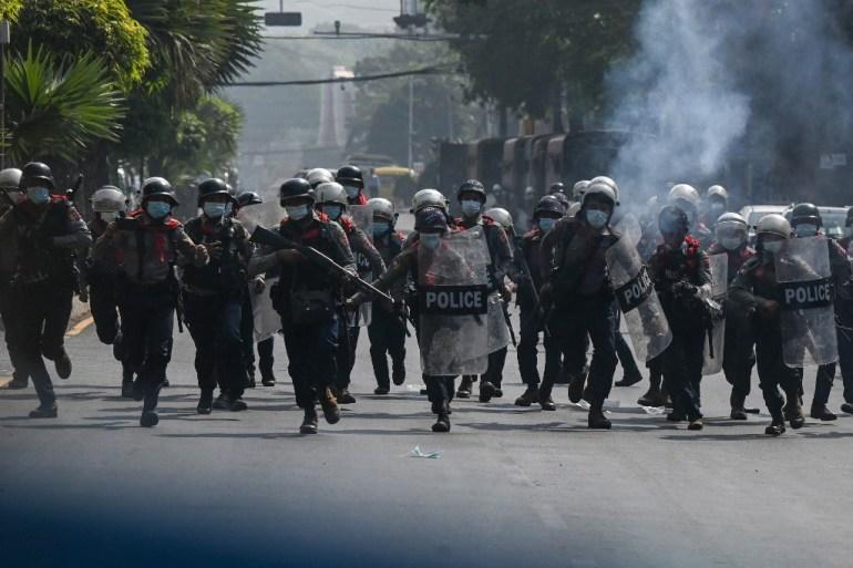 Three police officers from coup-hit Myanmar seek refuge in India | Asia  Pacific News | Al Jazeera