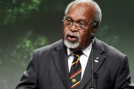 Prior to independence, Somare was the chief minister of the Australian-administered territory of Papua New Guinea [File: Hakon Mosvold Larsen/AFP]