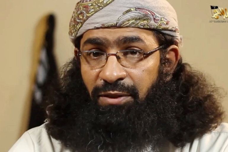 An image grab taken from a video released by Al-Malahem Media, the media arm of al-Qaeda in the Arabian Peninsula, shows Khaled Batarfi in a video posted online on June 15, 2015 [File: AFP]