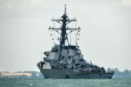 The US Navy's 7th Fleet said the destroyer USS John S McCain 'asserted navigational rights and freedoms in the vicinity of the Paracel Islands, consistent with international law' [File: Roslan Rahman/AFP]