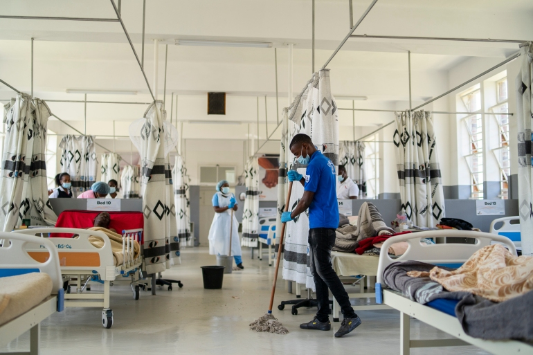 A ward at Mpilo Central Hospital on January 28, 2021 in Bulawayo, Zimbabwe [KB Mpofu/Getty Images]