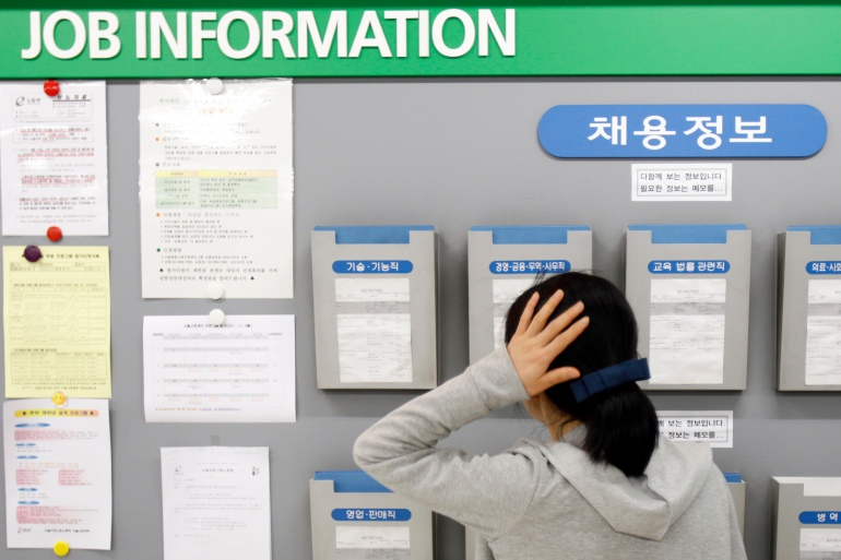 South Korea's unemployment rate jumped to 5.4 percent in January from 4.5 percent in December, a loss of almost one million jobs from a year ago [File: Truth Leem/Reuters]