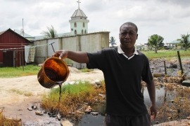 Shell discovered and started exploiting Nigeria's vast oil reserves in the late 1950s and has faced heavy criticism from activists and local communities over spills [File: Tife Owolabi/Reuters]